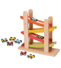 Wooden Race Track & Car Ramp